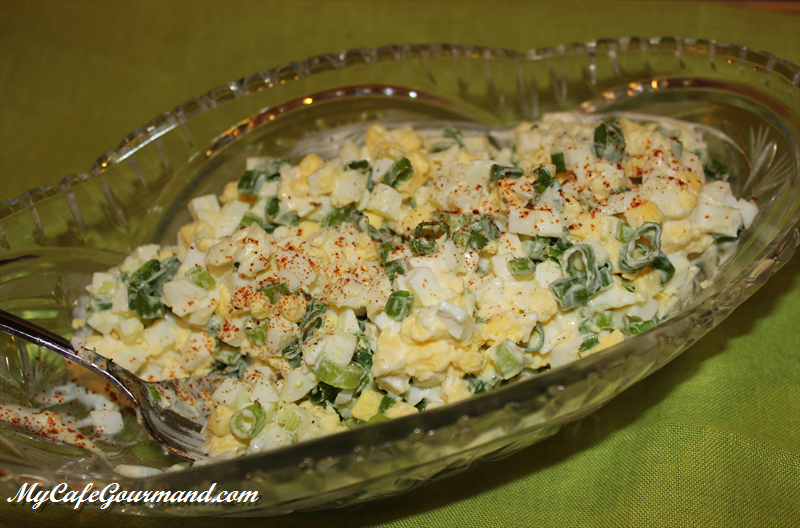 Spring Egg Salad With Green Onion