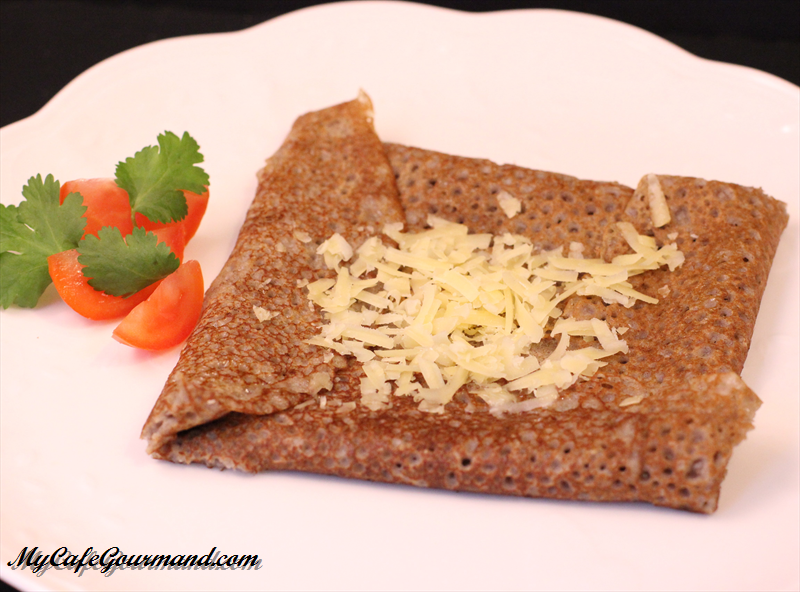 French Buckwheat Crepes with ham and cheese