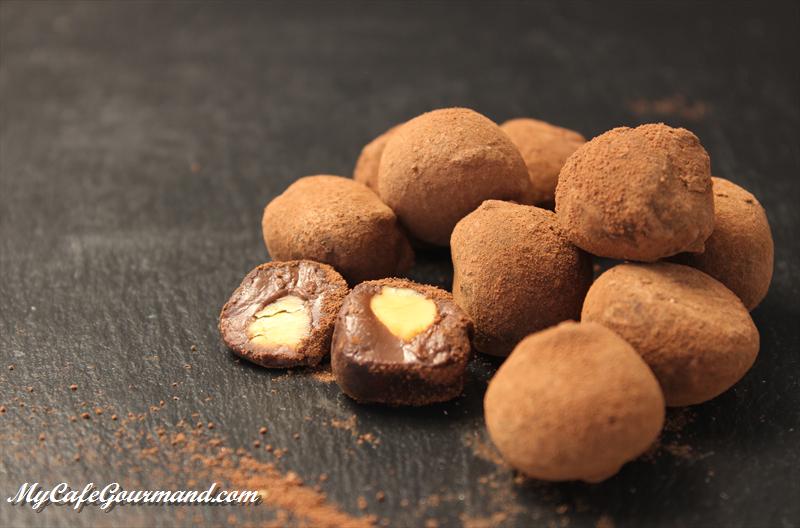Шоколадные трюфели с лесными орехами