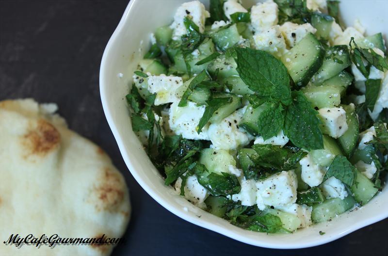 Cucumber and feta salad
