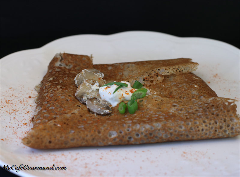 French Buckwheat Crepes with Mushrooms